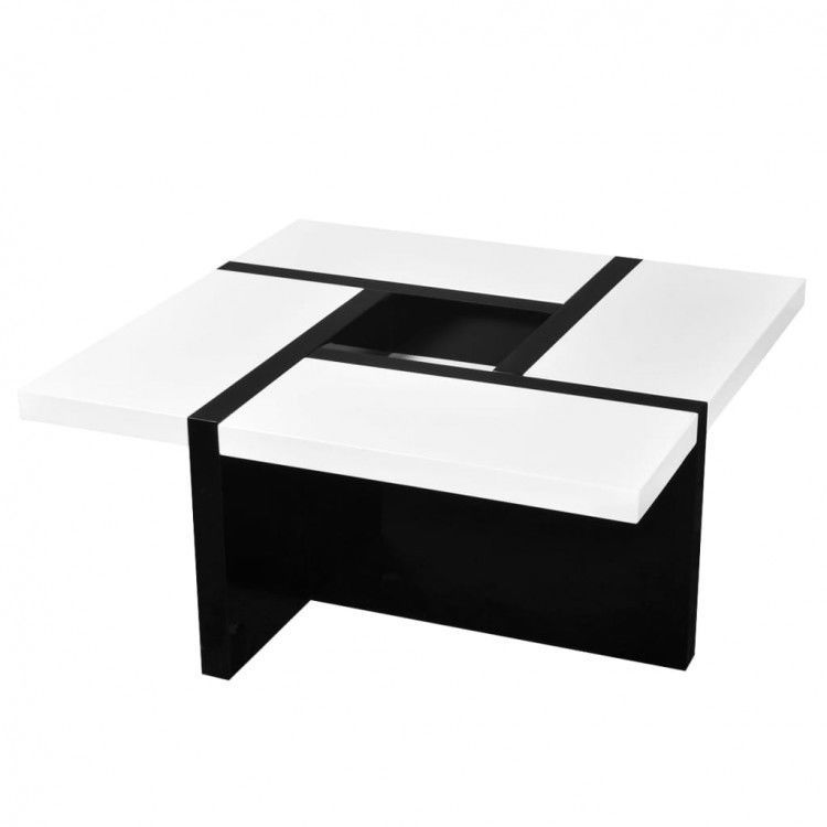 Details About High Gloss Coffee Table White Black Stand Bar