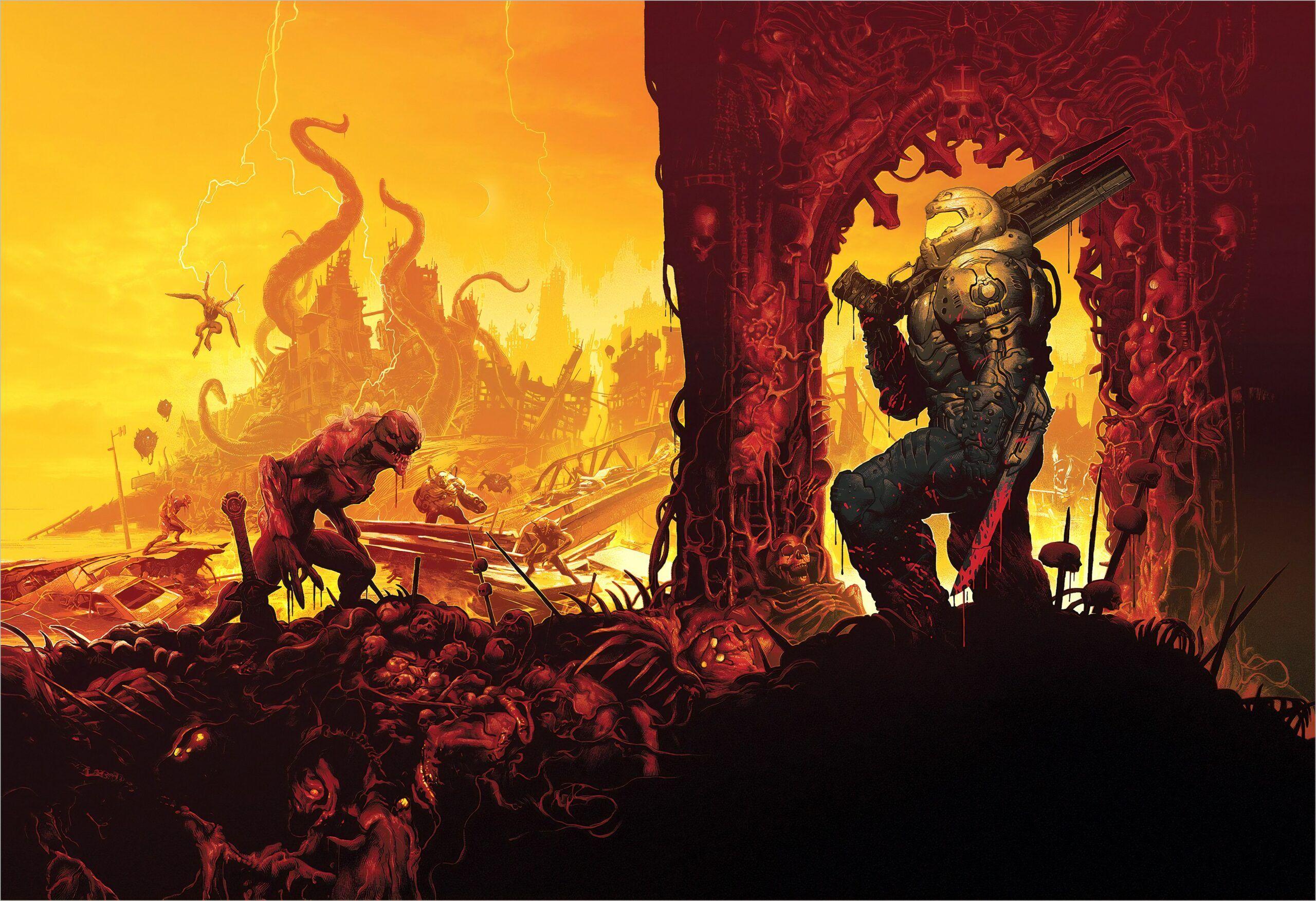 Doom Eternal Wallpapers 4k In 2020 Doom Videogame Doom Doom Game