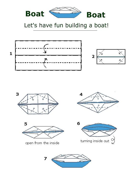 free folding diagram canoe boat money origami