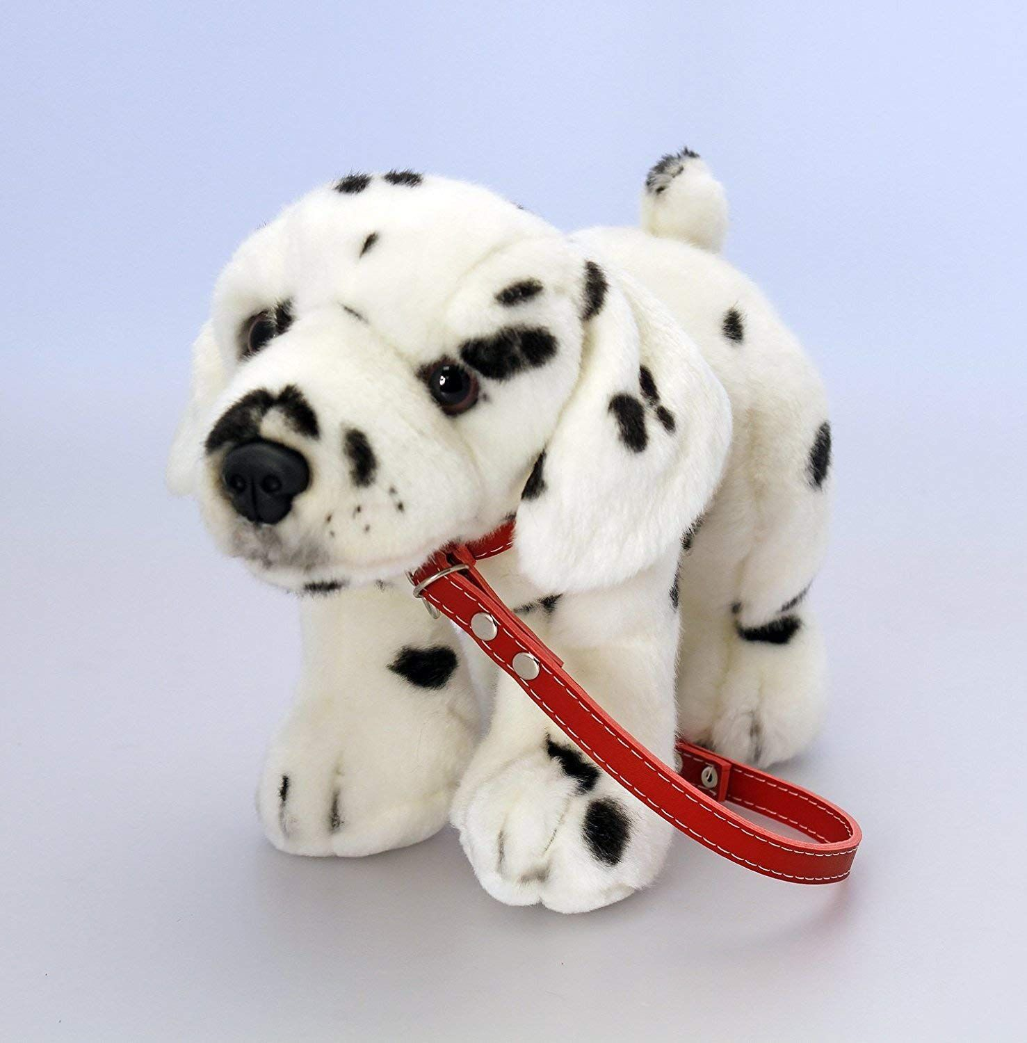 30cm Soft Toy Dalmatian On Red Lead By Keel Toys Amazon Co Uk