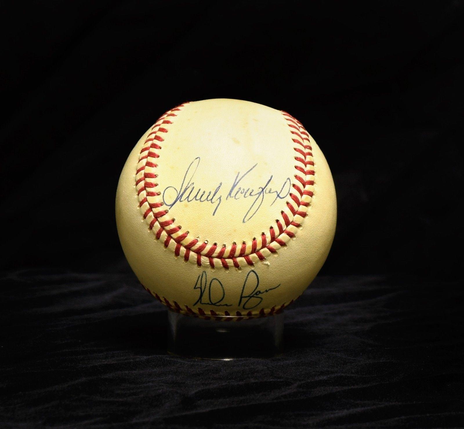 Sandy Koufax Bob Feller Nolan Ryan Signed Autographed Baseball Psa Dna I91472 Autographed Baseballs Sandy Koufax Bob Feller