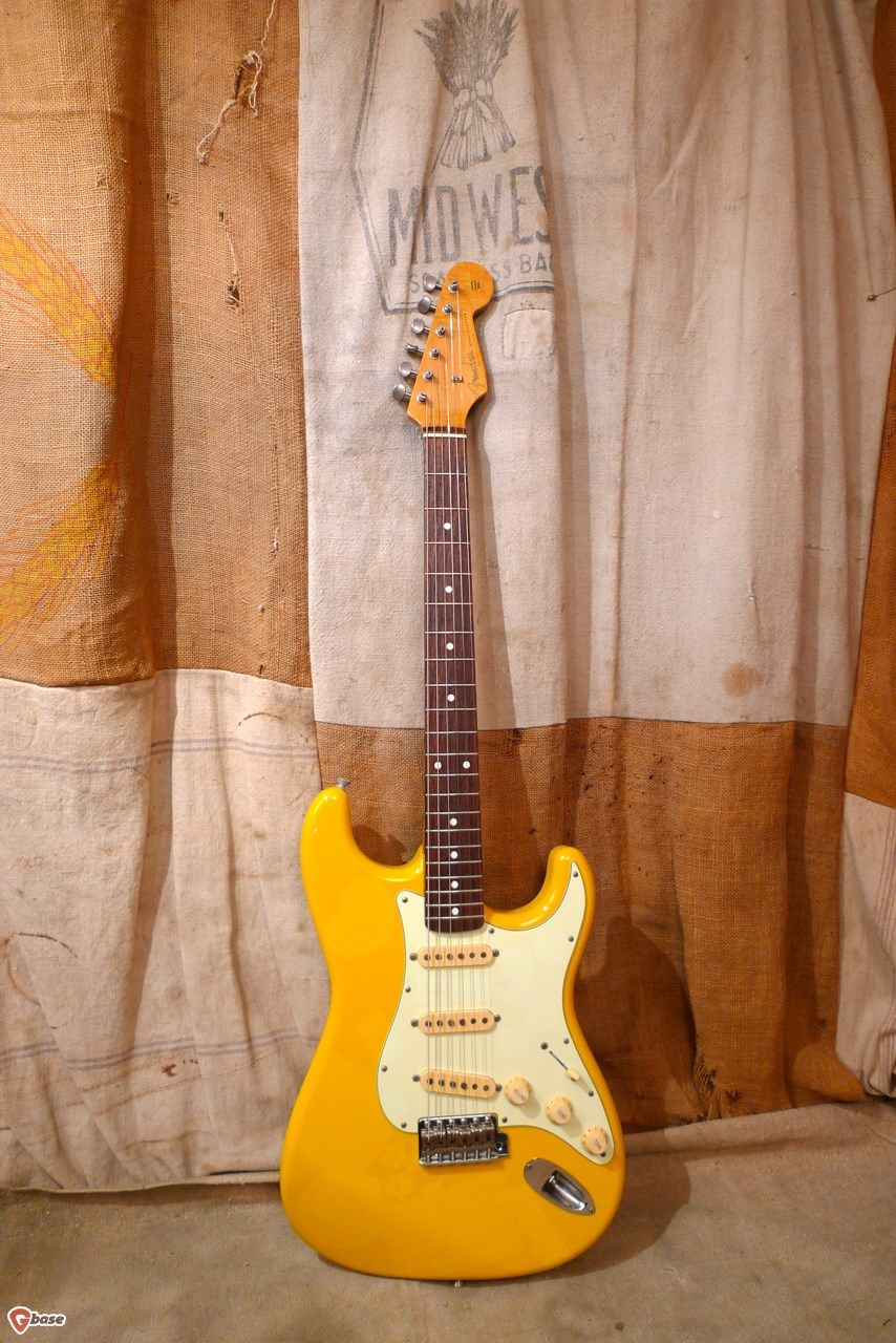 2004 Fender Stratocaster-Rebel Yellow #fenderstratocaster
