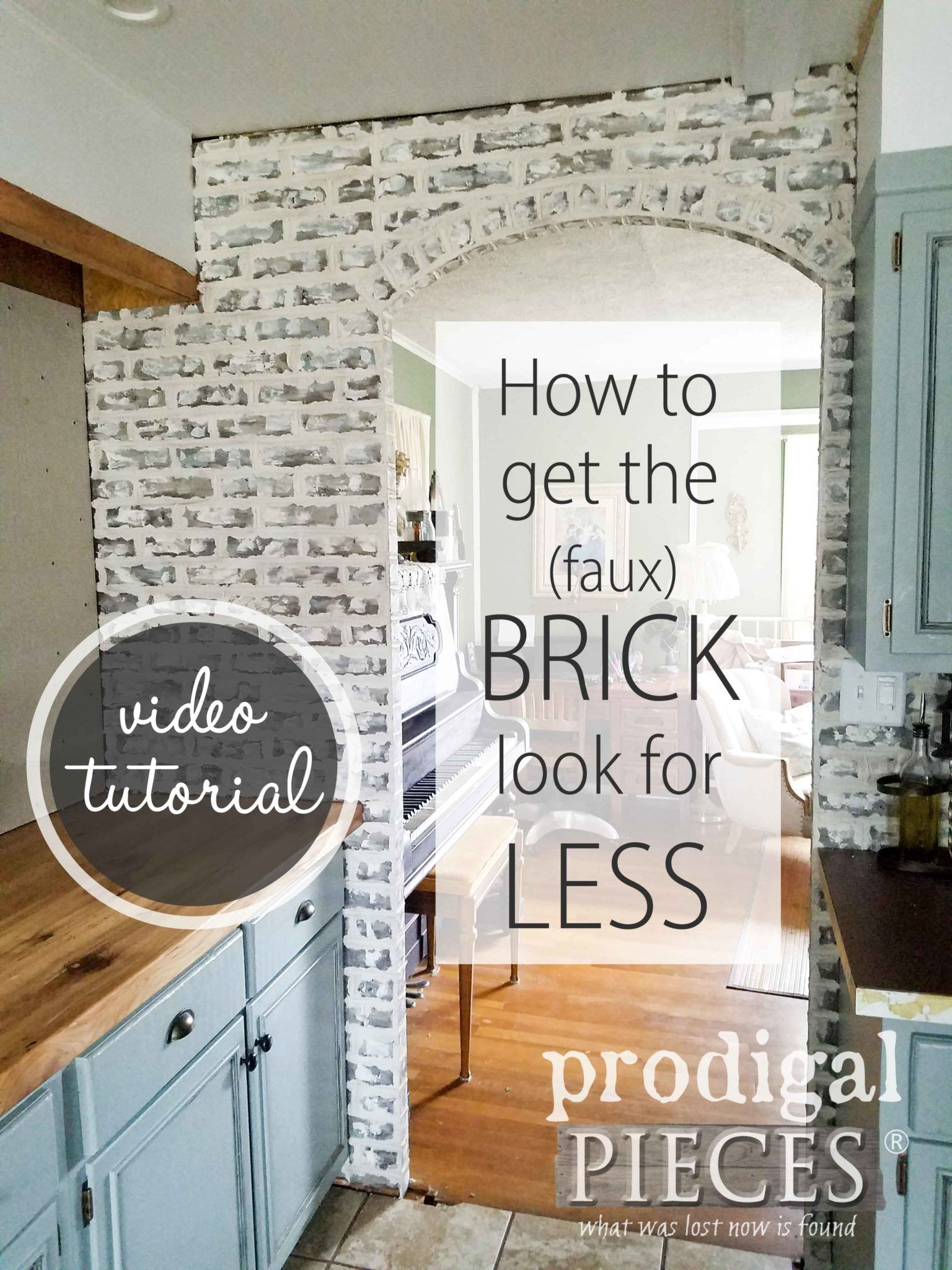 - DIY Faux Brick Tutorial ~ Budget Decor Faux Brick, Faux Brick