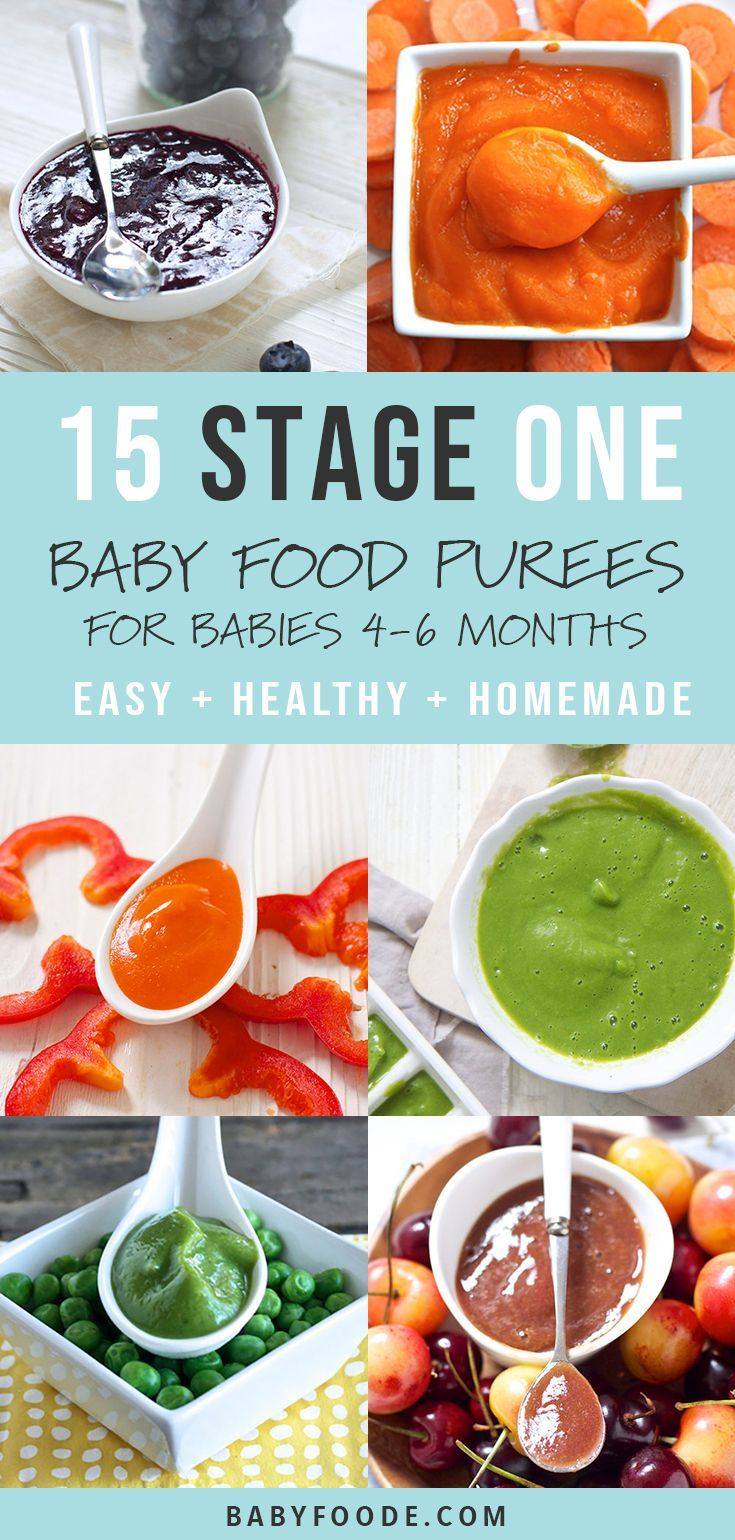 15 Stage One Baby Food Purees (4-6 Months) - Baby Foode