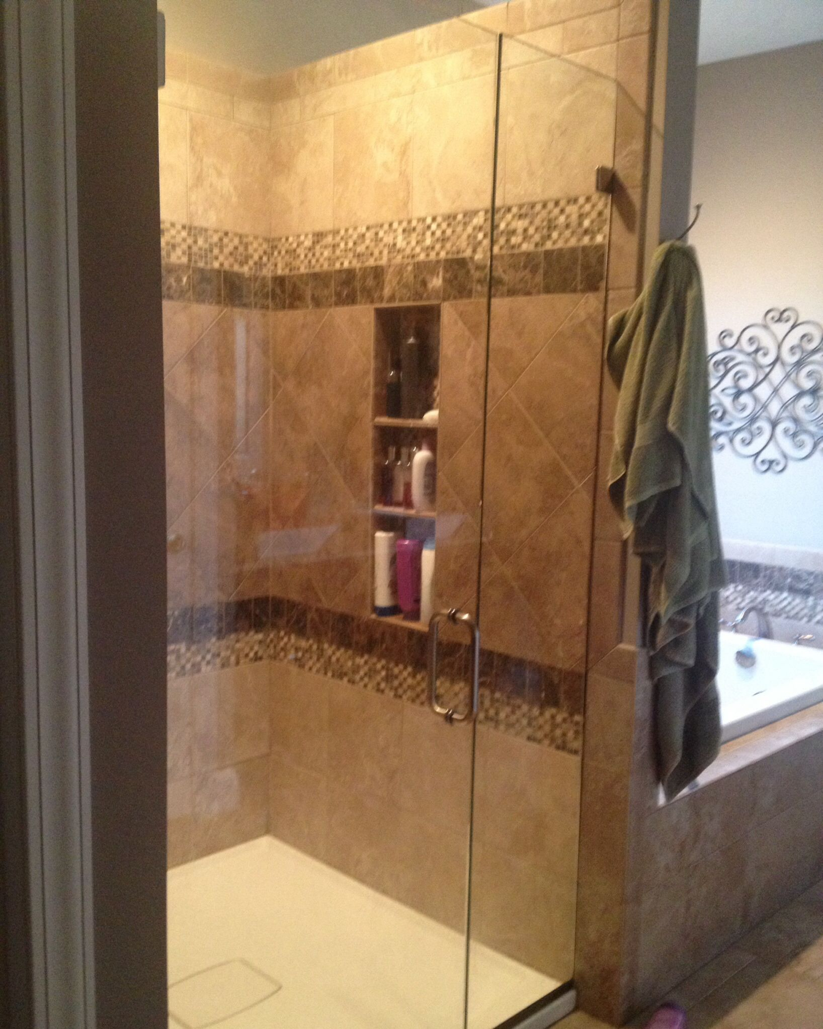 Photo Album Website Master bathroom Custom shower Shower built ins and shelves Shower niche