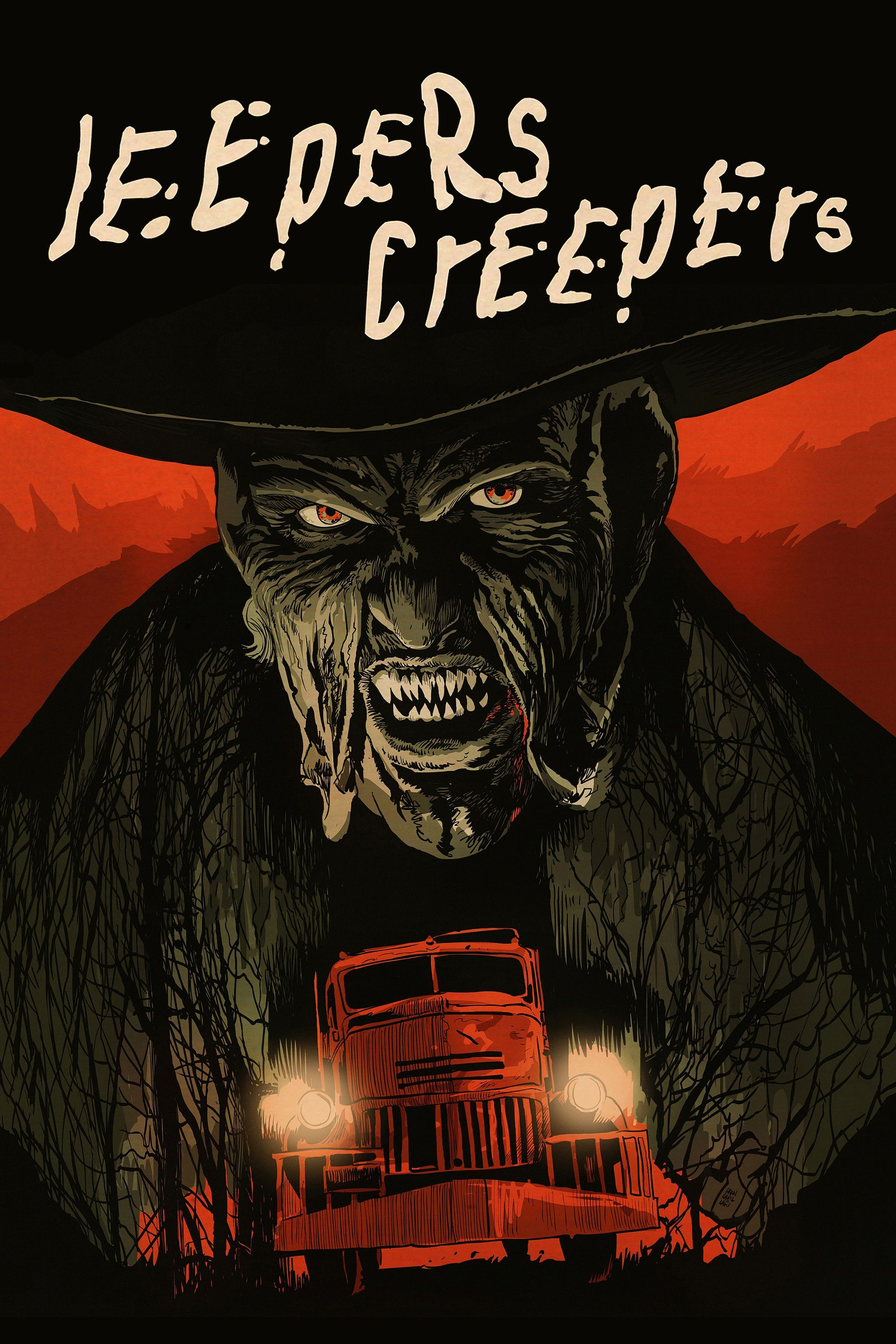 Jeepers Creepers Movie Poster Gina Philips Justin Long