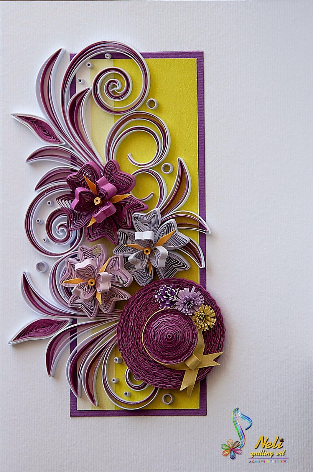 Neli quilling cards flowers 2014 9 quilling flowers for Paper quilling paper