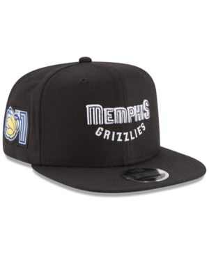 0dc0e2a3fb9 New Era Memphis Grizzlies Anniversary Patch 9FIFTY Snapback Cap - Black  Adjustable