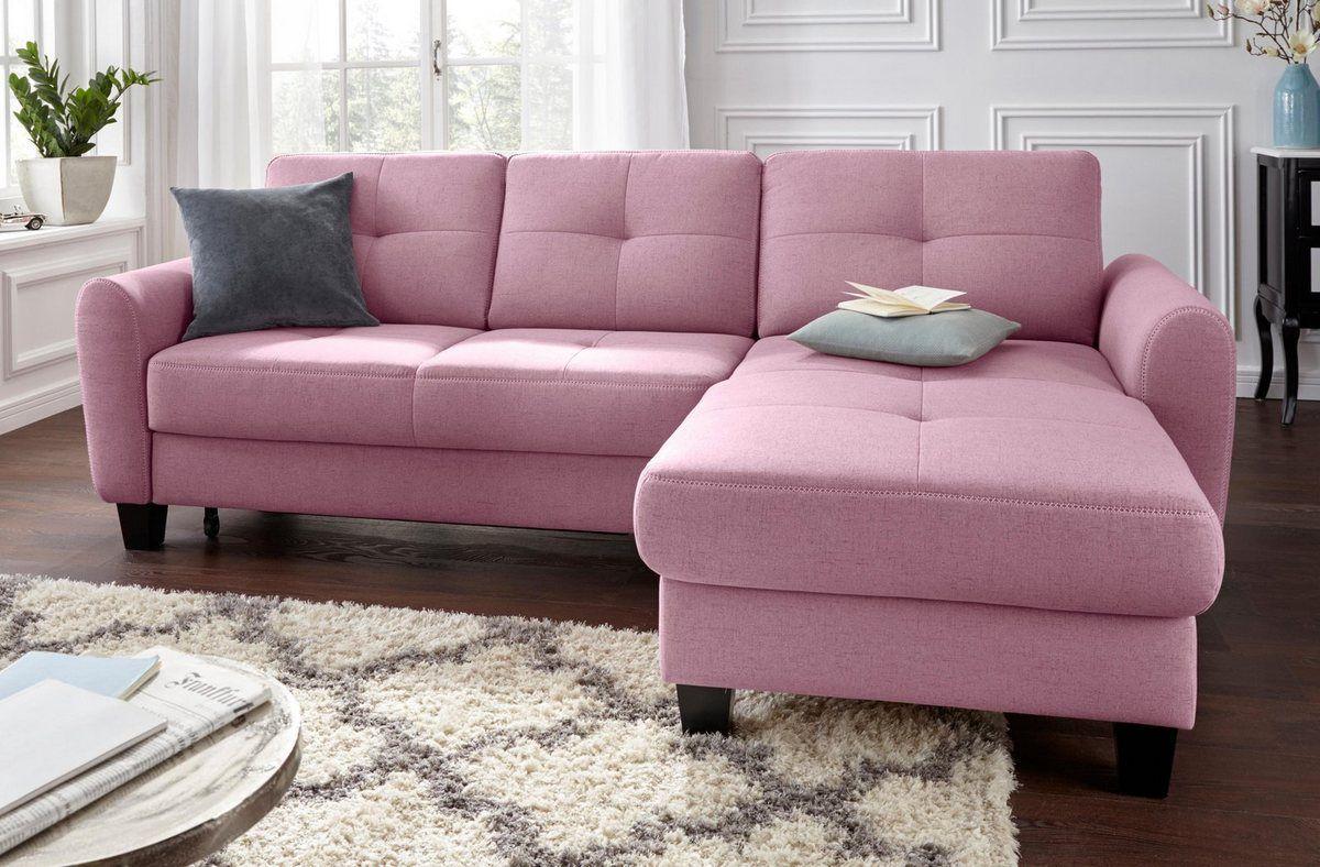 Sit More Ecksofa Mit Federkern Wahlweise Mit Bettfunktion Und Stauraum Online Kaufen Sofa Couch Mit Schlaffunktion