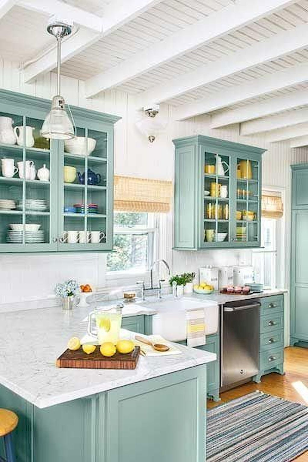 80 Gorgeous Farmhouse Gray Kitchen Cabinet Design Ideas Cabinet Design Farmhouse Gorgeous Gray Ideas Kitchen In 2020 Beach Cottage Kitchens Custom Kitchen Cabinets Home Kitchens