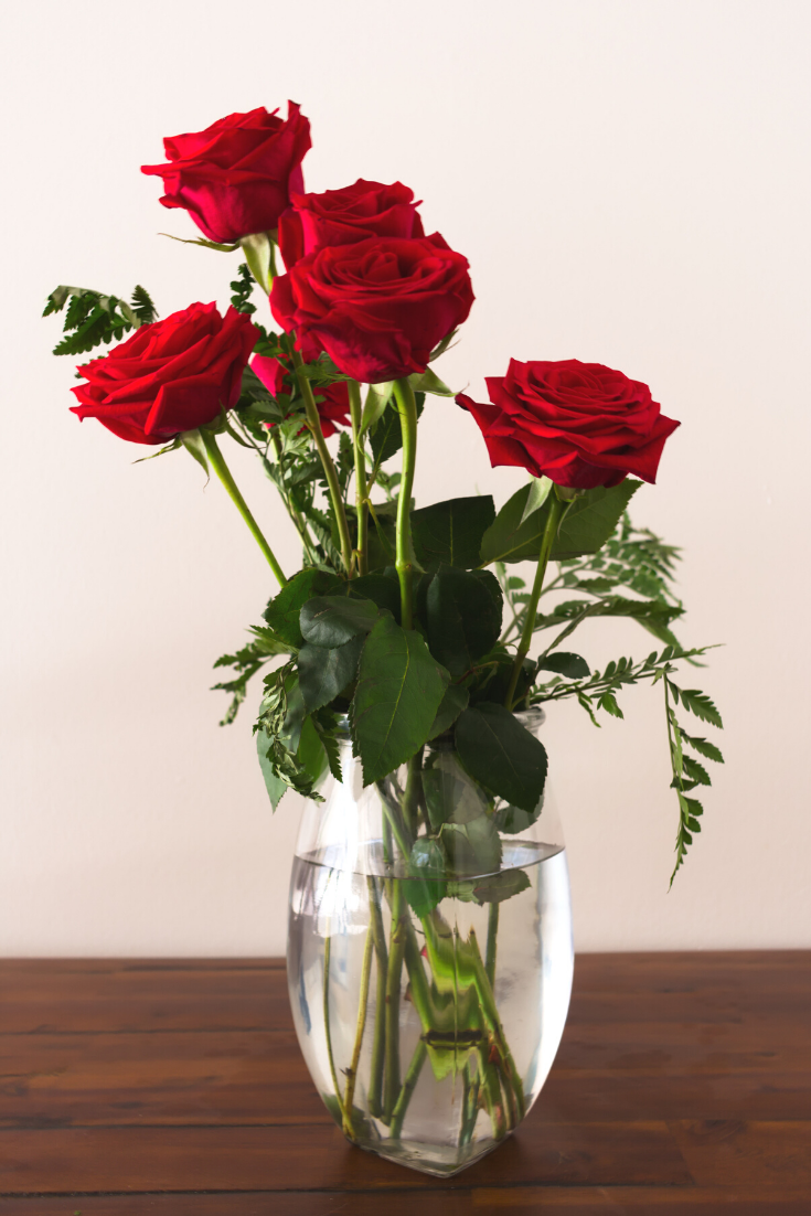 One Dozen 12 Long Stem Red Preserved Roses Luxury Bouquet In Glass Vase Flower Background Iphone Roses Luxury Flower Vases