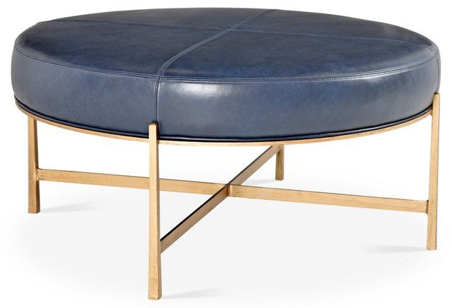 Enjoyable Rho Cocktail Ottoman Gold Navy This Is Pretty Fab If You Theyellowbook Wood Chair Design Ideas Theyellowbookinfo