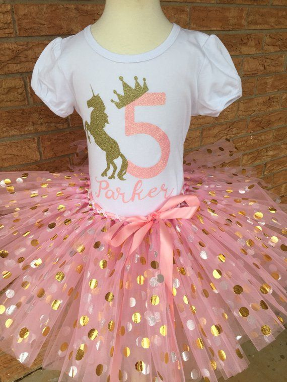 Fifth Birthday Shirt 5th Outfit Girls Unicorn Party 5 Year Old