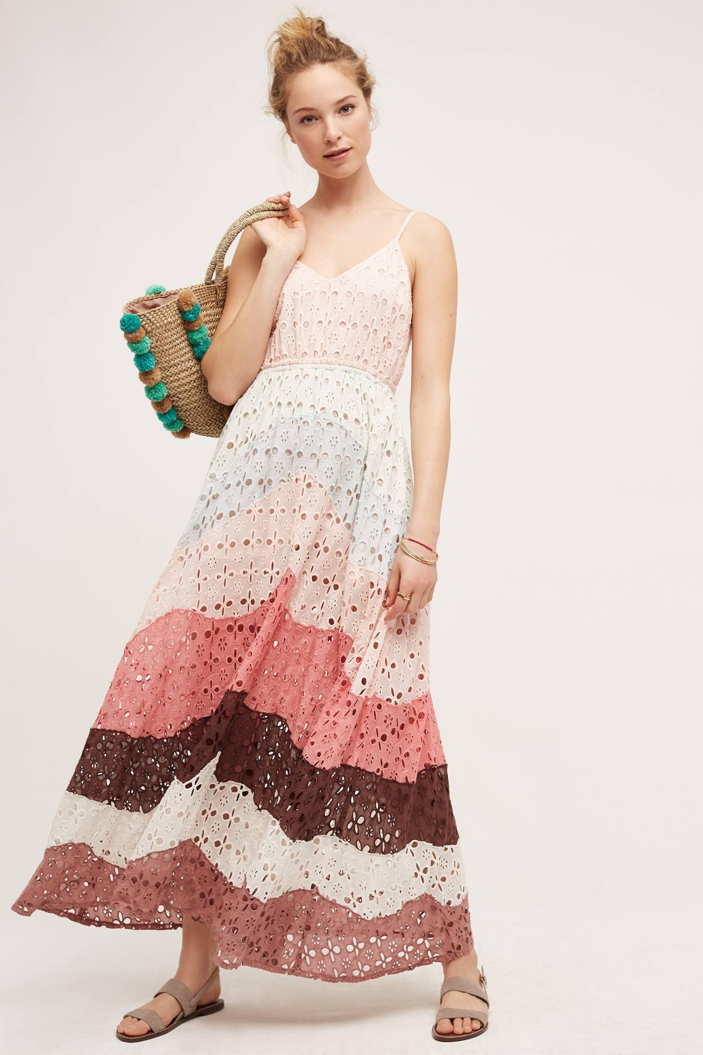 60a6bfb8ede3 Eyelet Maxi Dress | Anthropologie, Maxi dresses and Minimalist wardrobe