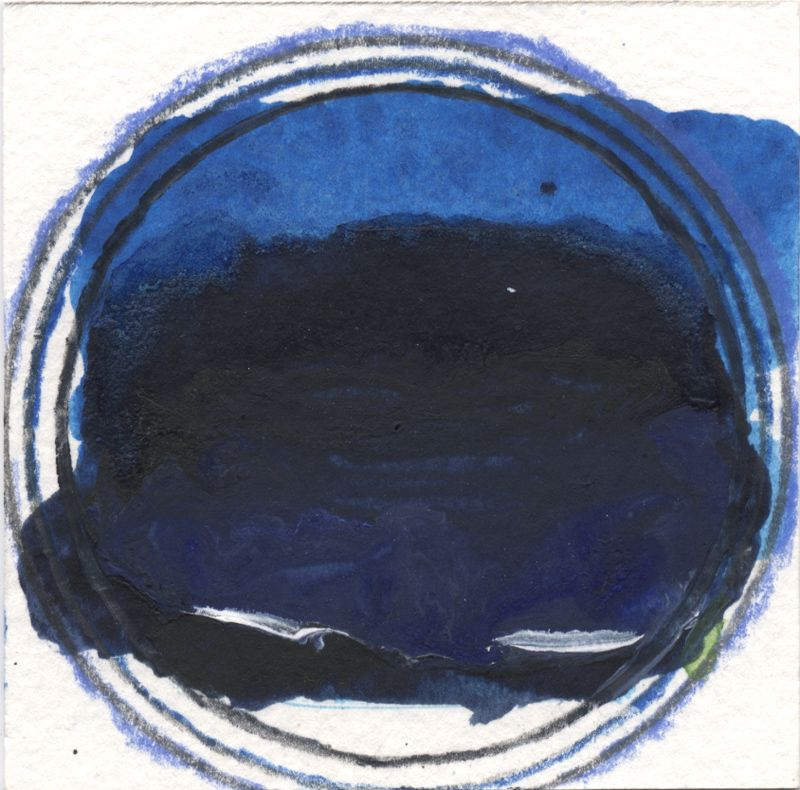 Nicola Stäglich, little rain little sun, 2015, pencil, watercolor, acrylic on paper, 7x 7, cm