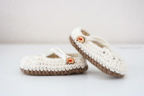 Double Strapped Baby Mary Janes Crochet Pattern | Crafts | Pinterest