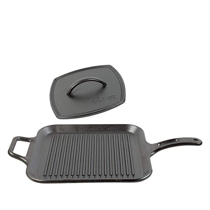 Lodge 12 Inch Square Cast Iron Grill Pan Ribbed 12 Inch Square Cast Iron Grill Pan With Dual Handles Grill Pan Cast Iron Grill Pan Cast Iron Grill
