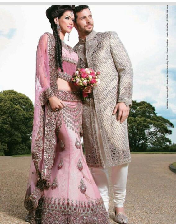 Indian wedding outfits bride groom - Suit and saree. | Pinterest