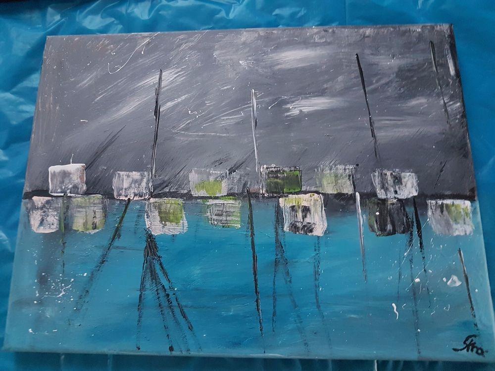 Aryl Kunst Acrylmalerei Abstrakt abstrakt Leinwand Keilrahmen 30 x ...