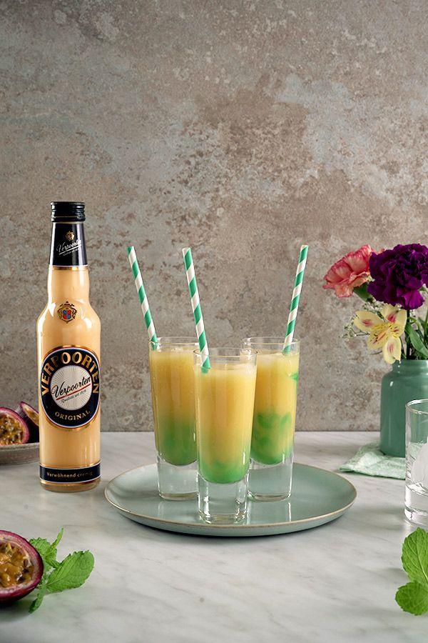 Cocktails mit Likör für die Mädels-Party ''Verpoorten-Green'' - Drinks, Cocktails und Longdrinks mit Eierlikör