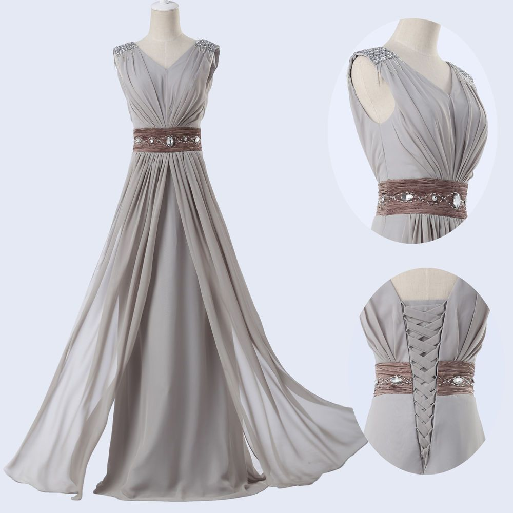 GK Stock Elegant Bridesmaid Wedding Party Gown Prom Ball Evening ...