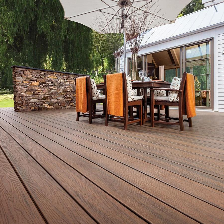 Trex Transcend 12 Ft Spiced Rum Grooved Composite Deck Board Lowes Com In 2020 Patio Design Diy Exterior Deck Designs Pictures