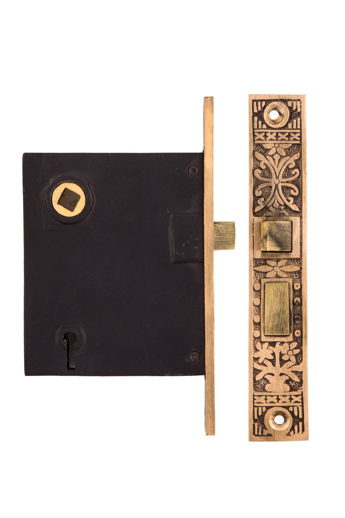Potted Flower Mortise Lock W Strike Plate 0617 Us By Charleston Hardware Antique Restoration Decorative Hardware Restoration Hardware