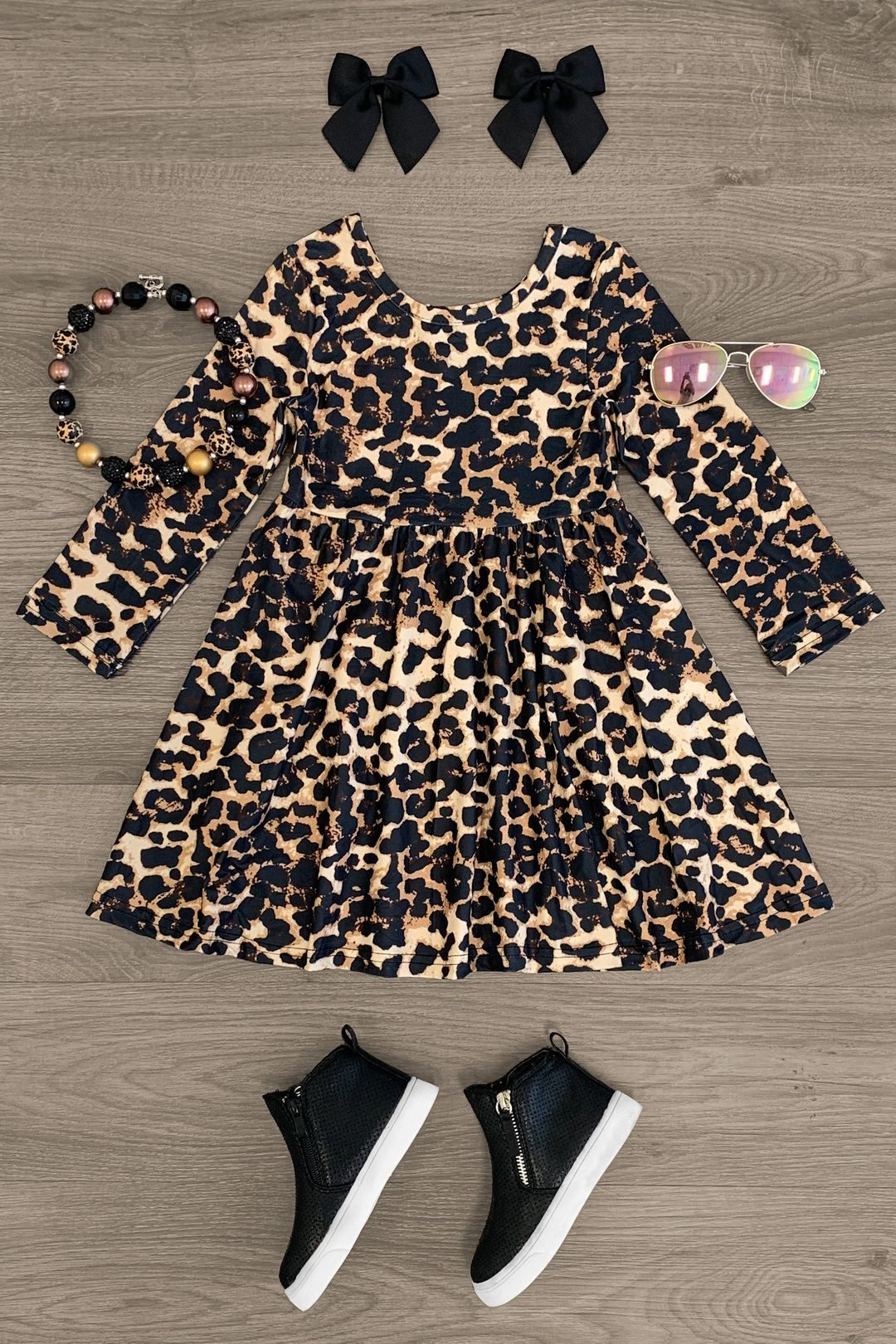 Cheetah Long Sleeve Dress Long Sleeve Dress Dresses Simple Dresses [ 1620 x 1080 Pixel ]