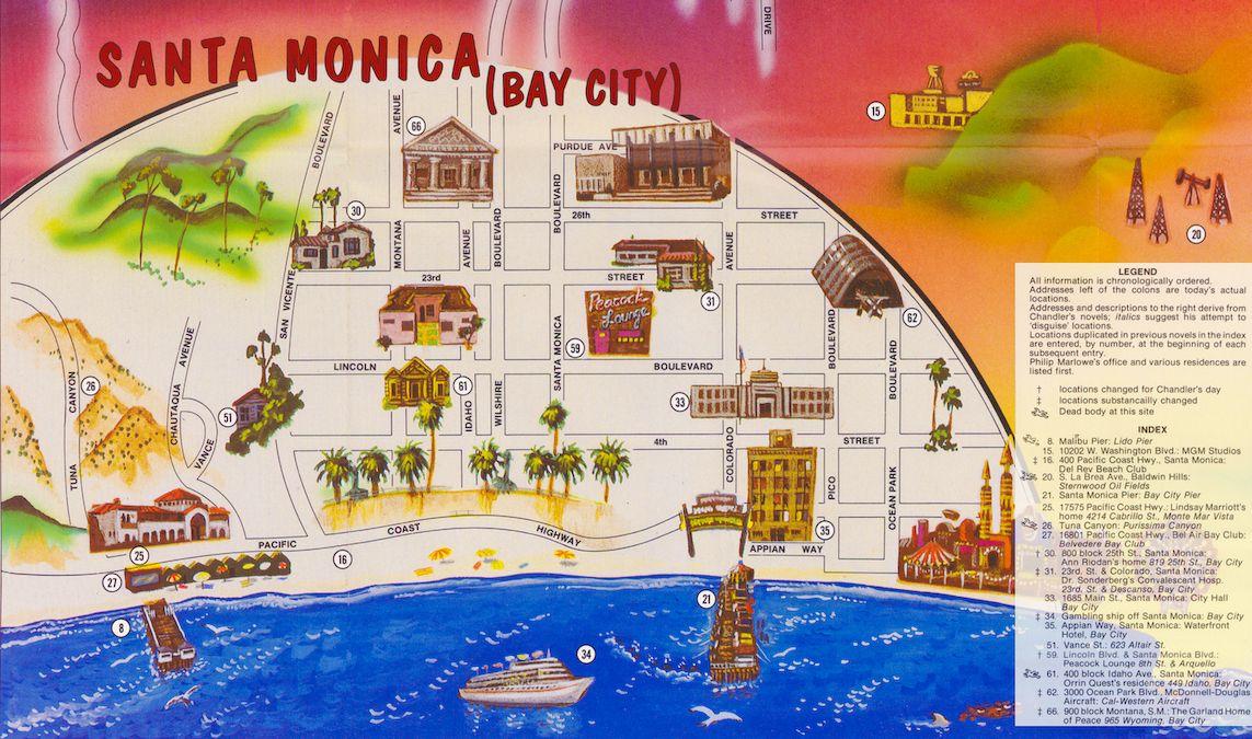 Santa Monica (Bay City) Mystery Map Section | Bay city ...