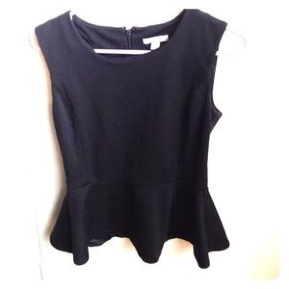 All black peplum top Ny collection NY Collection Tops Tees - Short Sleeve