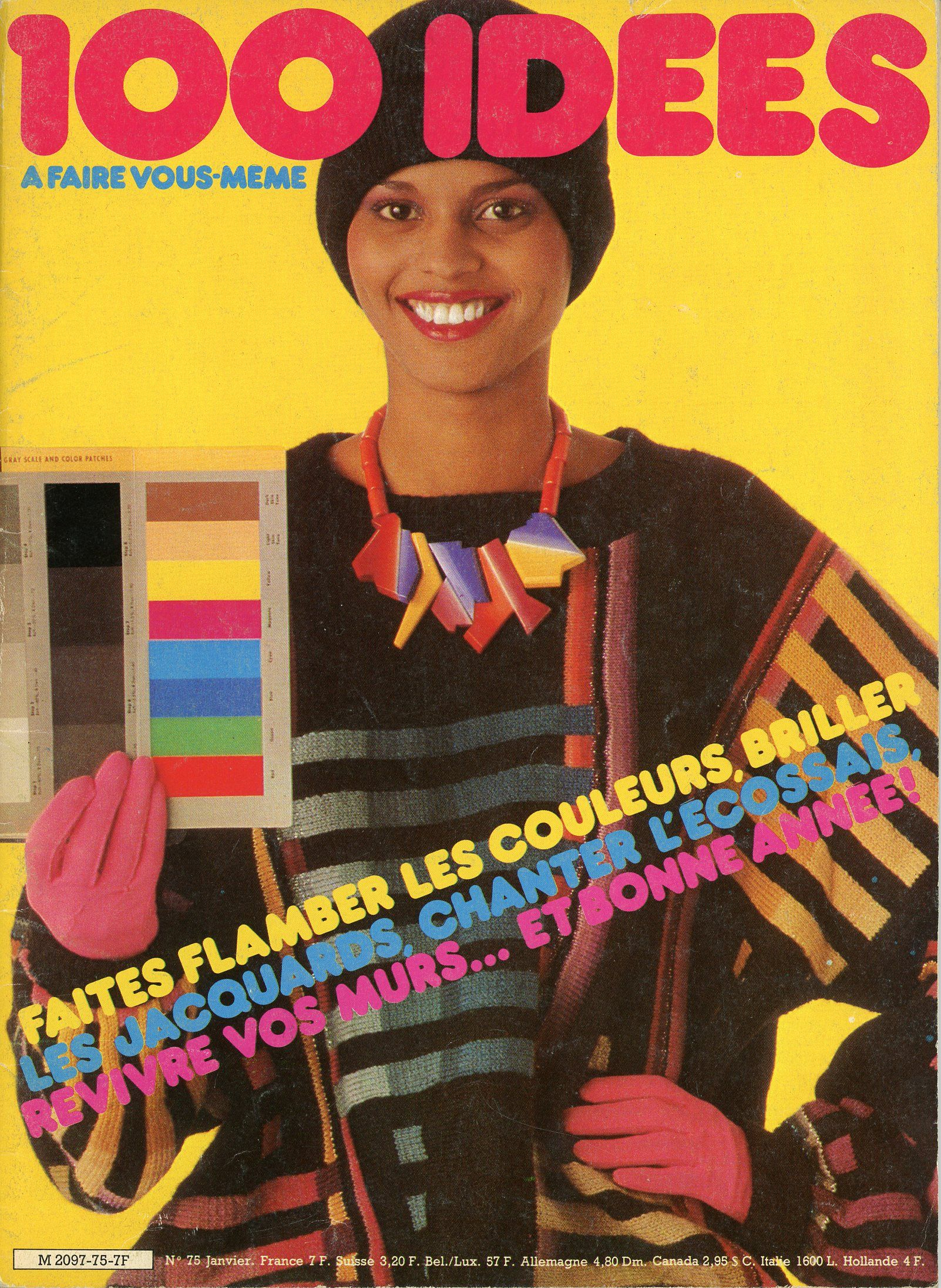 100 idées n° 75 - Janvier 1980 - couverture - Photo Jérôme Tisné.