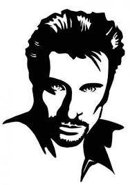 Johnny Hallyday Dessin Johnny Hallyday Pinterest Stencils