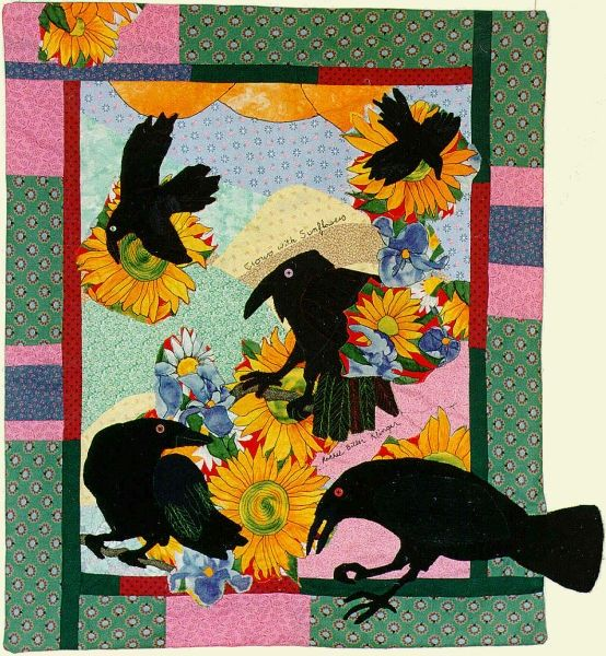 Crow Quilts   Sunflower Feast ~♪