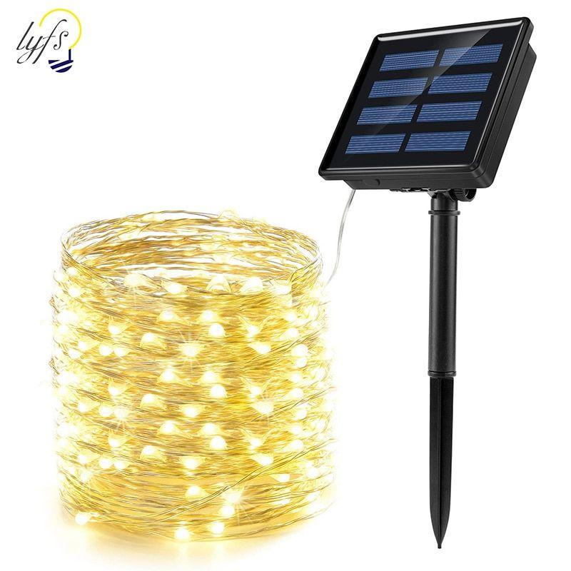 100-200 LED Solar Fairy Lights String Lamps Party Wedding Decor Garden Outdoor