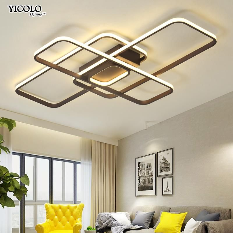 Led Ceiling Lights Living Room Modern Lamp Remote Control Dimming