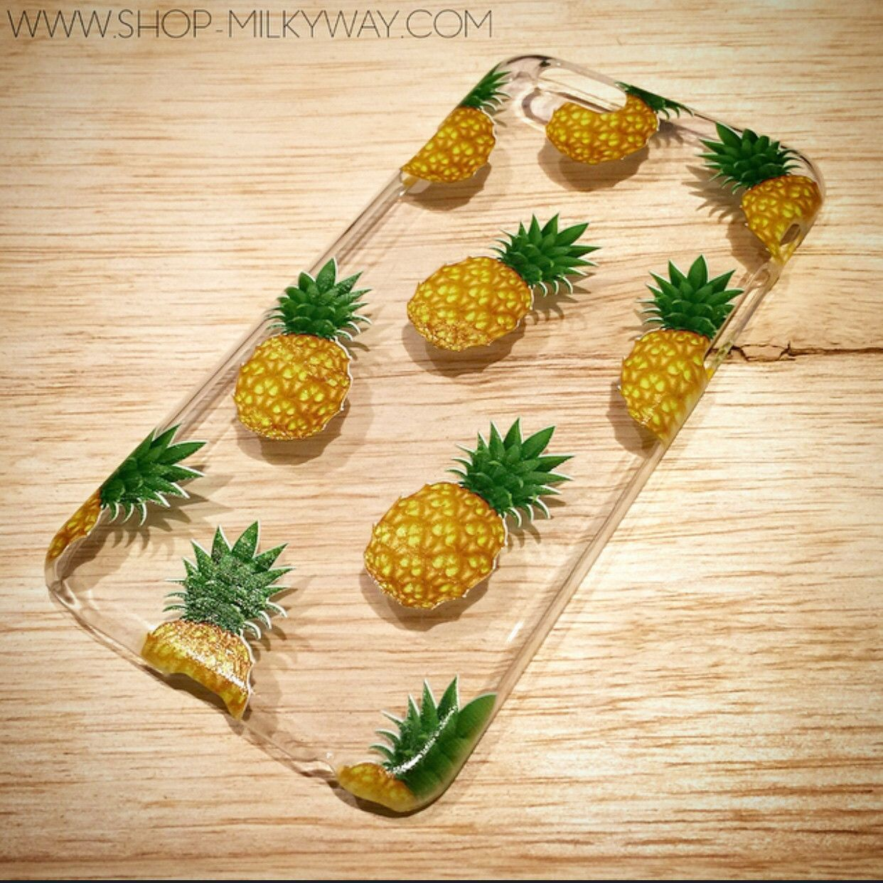 "H17 - IPHONE 6 (4.7"") Plastic Cover Case - PINEAPPLE OVERLOAD"