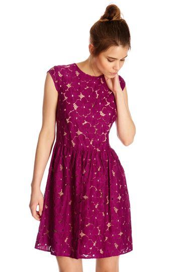 PARIS LACE DRESS | Pink | Oasis Stores | To the Nines | Pinterest