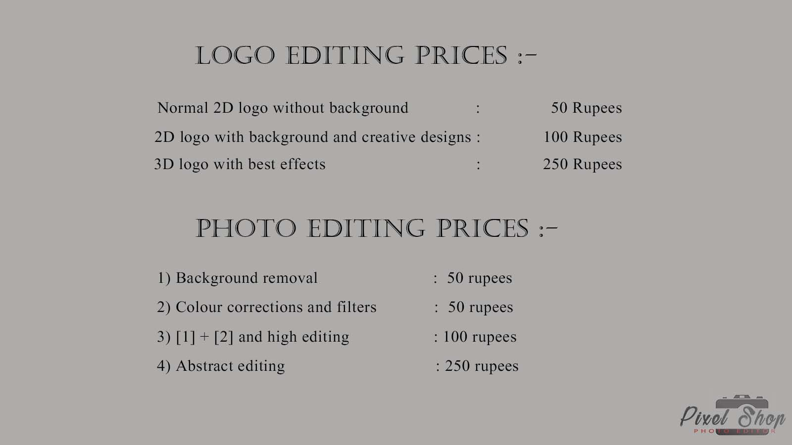 Prices For My Editing Photo Editing Edit Photo