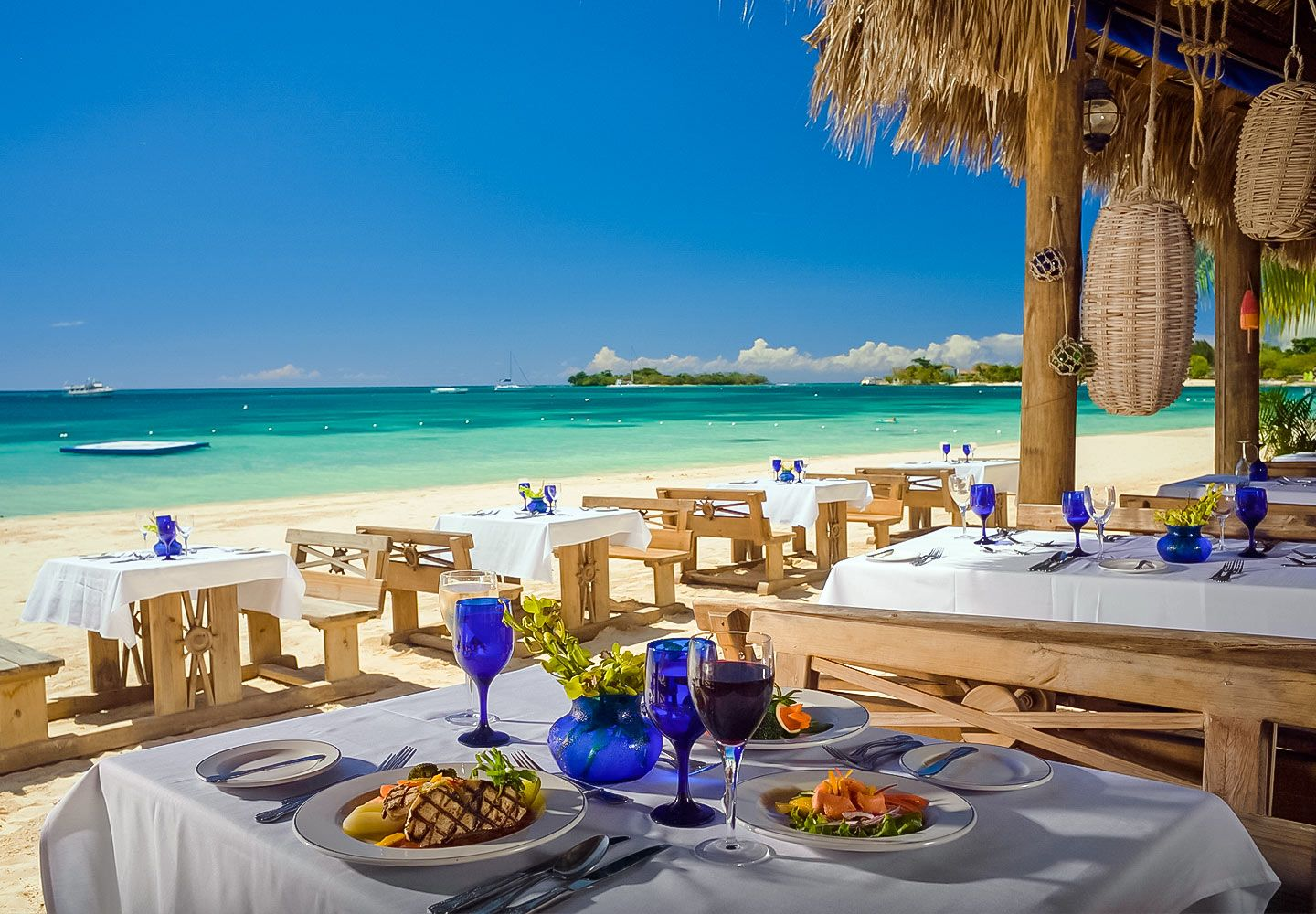 Sandals' signature restaurant, Barefoot by the Sea