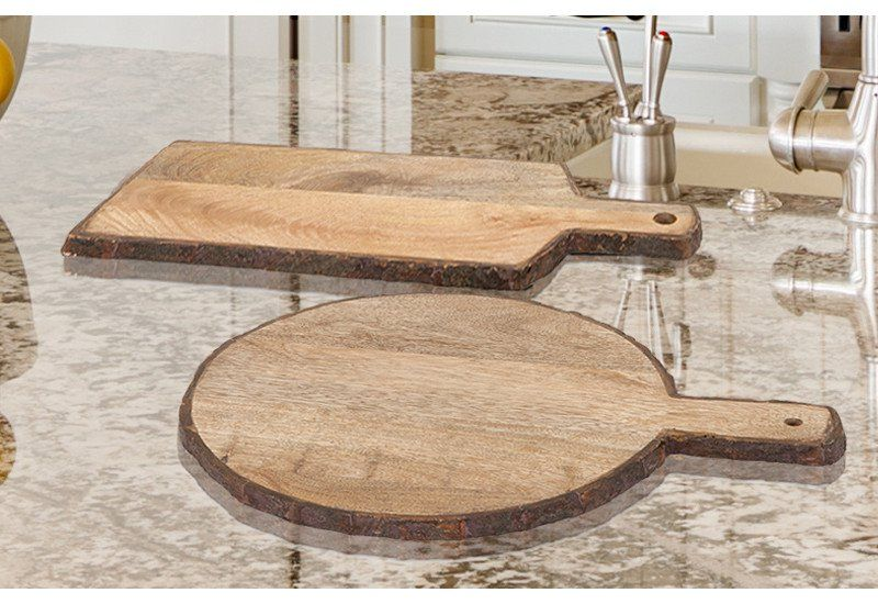 Wooden Tray Decor Beauteous Wooden Wood Tree Slice Slab Bark Serving Trays Cheese Board Design Ideas