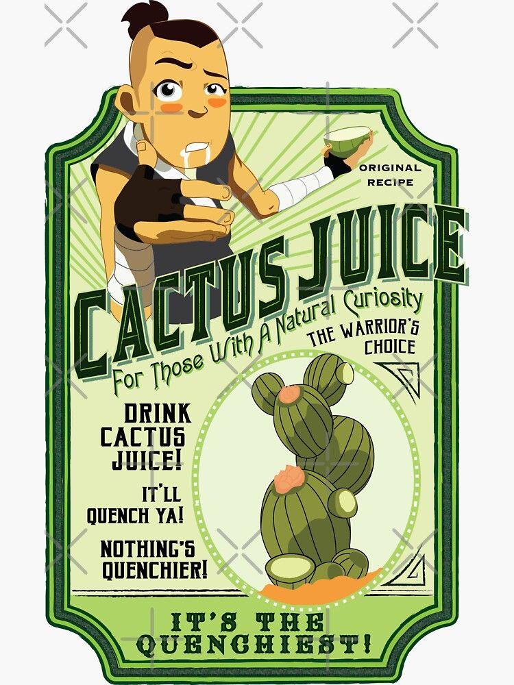 Drink Cactus Juice Sticker