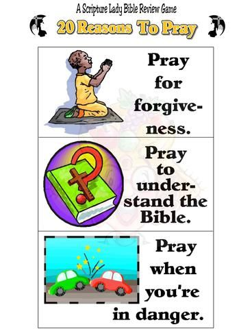 """Downloadable """"20 Reasons to Pray"""" Game Pray, Review games"""
