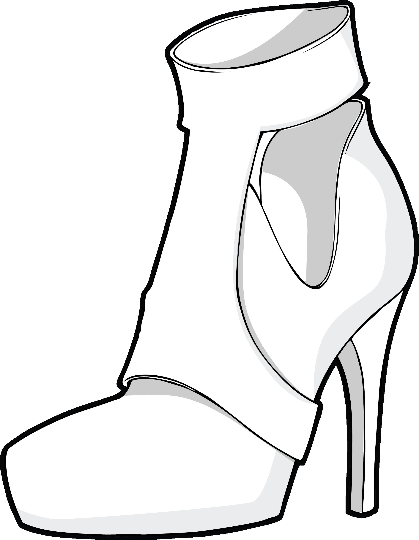 Обувь картинки нарисованные карандашом