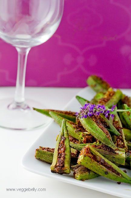 Masala Stuffed Okra | Veggie Belly | Vegetarian Recipe