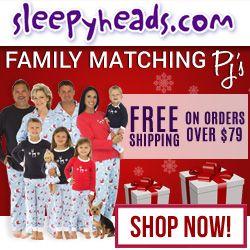 Family Matching PJ's at Sleepyheads.com