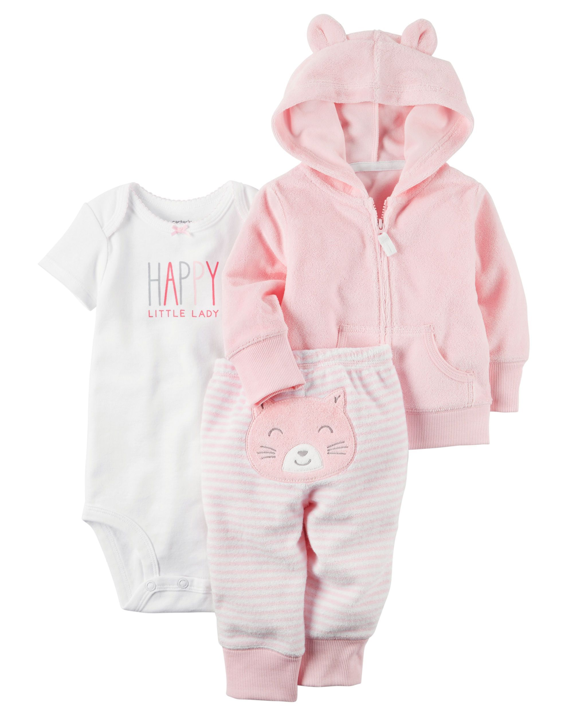 Baby Girl 3 Piece Terry Little Jacket Set from Carters Shop