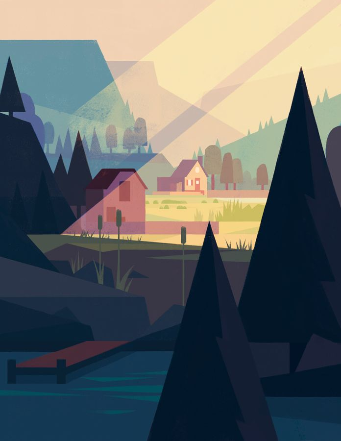 Illustration Of Stardew Valley By Eric Barone Stardew Valley Fanart Stardew Valley Scenery