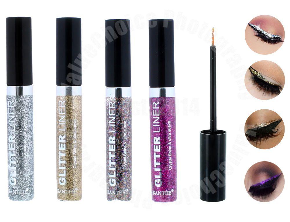 Details about 4 Color Glitter Liner Eye Shimmer Metallic