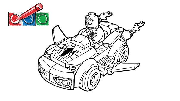 LEGO.com Juniors Downloads - Coloring pages - Spiderman 2 | Projects ...
