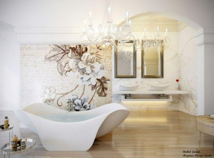 Badezimmer Mit Holz Und Mosaik | Architektur Und Design ... Badezimmer Mosaik Holz